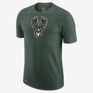 Milwaukee Bucks Earned Edition Playera con logotipo de la NBA Nike Dri-FIT para hombre