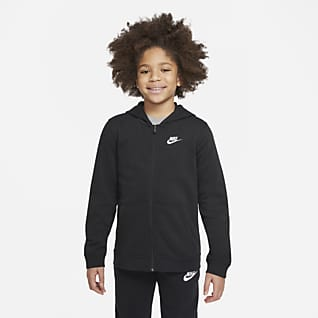 Nike Sportswear Club Tam Boy Fermuarlı Genç Çocuk Kapüşonlu Üst