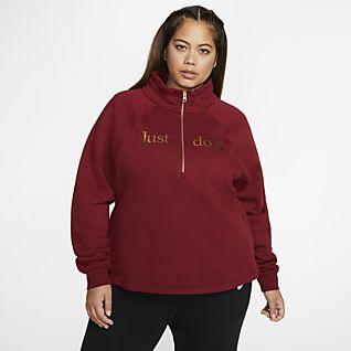 Nike Sportswear Fleece-Oberteil mit Halbreißverschluss für Damen (große Größe)