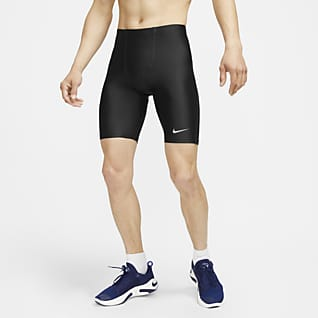 Nike Fast กางเกงวิ่งขาสั้นผู้ชายยาว 1/2 ส่วน