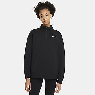 Nike Sportswear Fleecetop met korte rits voor dames