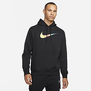 Nike Sportswear Ανδρικό φούτερ με κουκούλα και χνουδωτή υφή στο εσωτερικό