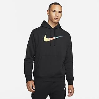 Nike Sportswear Hoodie pullover escovado para homem