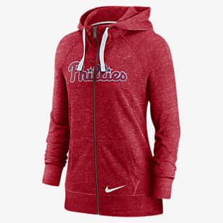 Nike Wordmark Vintage (MLB Philadelphia Phillies) Women's Full-Zip Hoodie