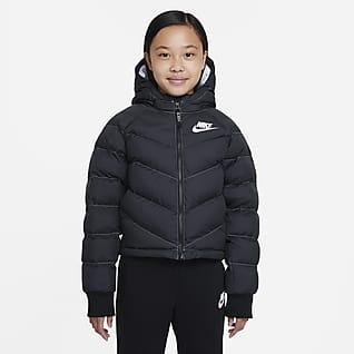 Nike Sportswear Kurtka z kapturem i syntetycznym wypełnieniem dla dużych dzieci (dziewcząt)