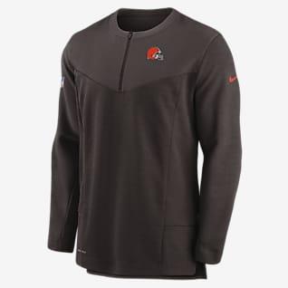 Nike Dri-FIT Sideline (NFL Cleveland Browns) Men's 1/2-Zip Jacket
