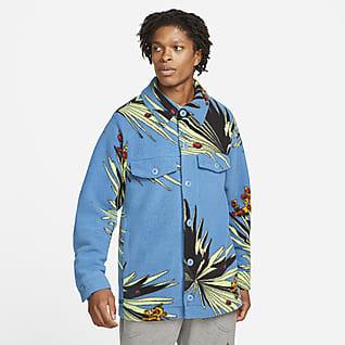 LeBron Мужская куртка на кнопках из материала Sherpa