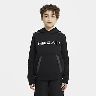 Nike Air Φλις μπλούζα με κουκούλα για μεγάλα αγόρια