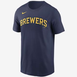 Nike Wordmark (MLB Milwaukee Brewers) Men's T-Shirt