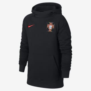 Portogallo Felpa pullover da calcio in fleece con cappuccio - Ragazzi