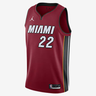 2020 赛季迈阿密热火队 (Jimmy Butler) Statement Edition Jordan NBA Swingman Jersey 男子球衣