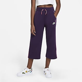 Nike Sportswear Bukser i french terry til store børn (piger)