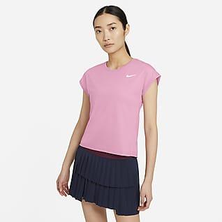 NikeCourt Dri-FIT Victory Kortermet tennisoverdel til dame