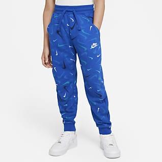 Nike Sportswear Club Pantalones de entrenamiento de French Terry estampados para niño talla grande