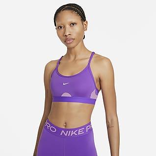 Nike Dri-FIT Indy Bra deportivo de sujeción ligera acolchado con cuello en U para mujer