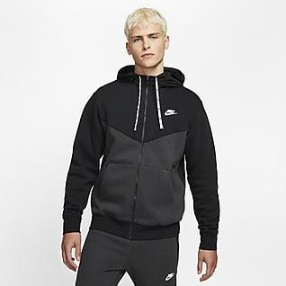 Nike Sportswear Hybrid-Fleece-Hoodie mit durchgehendem Reißverschluss für Herren