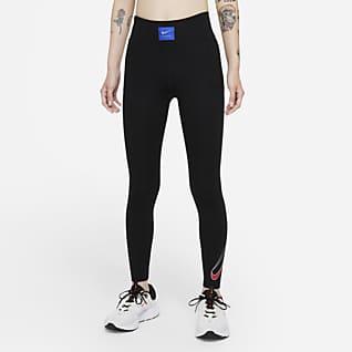 Nike Dri-FIT Retro Run Faster เลกกิ้งวิ่งเอวปานกลาง 7/8 ส่วนผู้หญิง