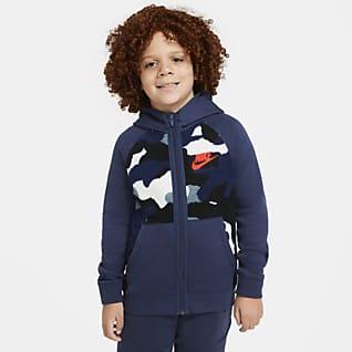 Nike Sportswear Club Fleece Sudadera con capucha de cierre completo para niño talla grande