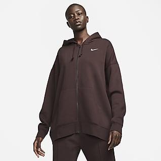Nike Sportswear Essentials Sudadera con capucha de cierre completo de tejido Fleece para mujer