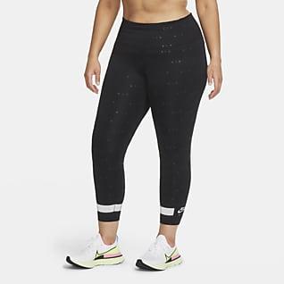 Nike Air Женские слегка укороченные леггинсы для бега (большие размеры)