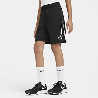 Nike Dri-FIT Shorts de entrenamiento con estampado gráfico para niño talla grande