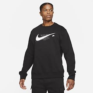 Nike Sportswear Court Fleecetröja med rund hals för män