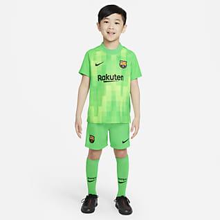 F.C. Barcelona 2021/22 Goalkeeper Younger Kids' Football Kit