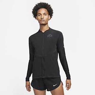 Nike Dri-FIT Run Division Tam Boy Fermuarlı Erkek Koşu Üstü