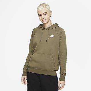 Nike Sportswear Essential Pulloverhættetrøje i fleece til kvinder