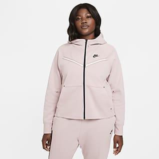 Nike Sportswear Tech Fleece Windrunner Sudadera con capucha de cierre completo para mujer talla grande