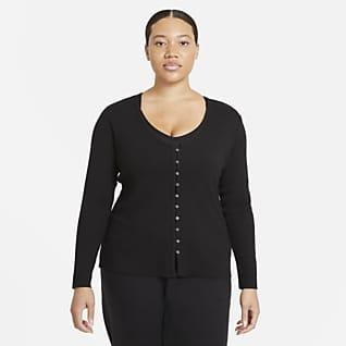 Nike Yoga de tela rib Cardigan para mujer (talla grande)