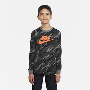 Nike Sportswear Langærmet T-shirt til større børn (drenge)