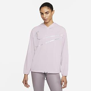 Coleção Nike Pro Hoodie com grafismo para mulher
