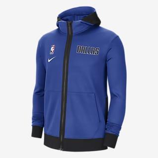 Dallas Mavericks Showtime Sudadera con capucha de la NBA Nike Therma Flex para hombre