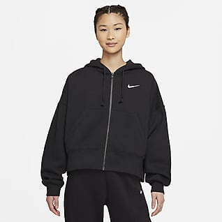 Nike Sportswear Essential Sweat à capuche et zip en tissu Fleece pour Femme
