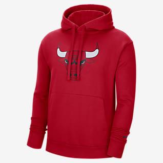 Chicago Bulls Essential Nike NBA-s belebújós, kapucnis férfipulóver