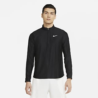 NikeCourt Dri-FIT Advantage Tennisoverdel med glidelås i halsen til herre