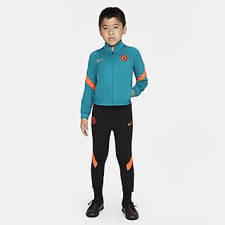 Chelsea FC Strike Футбольный трикотажный костюм для дошкольников Nike Dri-FIT