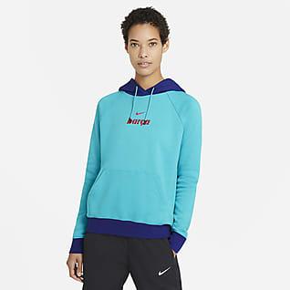 FC Barcelona Pullover-hættetrøje i fleece til kvinder