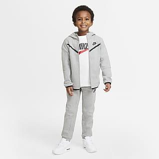Nike Sportswear Tech Fleece Conjunto de pantalones y chamarra para niños talla pequeña