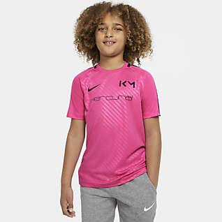 Nike Dri-FIT Kylian Mbappé Older Kids' Short-Sleeve Football Top