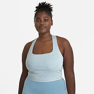Nike Yoga Camiseta de tirantes a cuadros corta para mujer talla grande