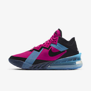 "LeBron 18 Low ""Neon Nights"" Basketball Shoe"