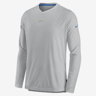 Nike Dri-FIT Sideline Coaches (NFL Los Angeles Chargers) Men's Long-Sleeve V-Neck T-Shirt