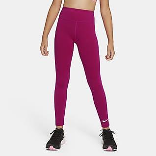 Nike One Ψηλόμεσο κολάν προπόνησης για μεγάλα κορίτσια