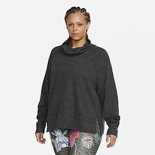 Nike Therma Prenda para la parte superior de entrenamiento de tejido Fleece con cuello alto para mujer (talla grande)