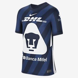 Pumas UNAM 2020/21 Stadium de visitante Camiseta de fútbol para niños talla grande