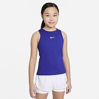 NikeCourt Dri-FIT Victory Koszulka tenisowa bez rękawów dla dużych dzieci (dziewcząt)