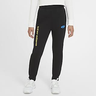Inter Milan Pantalones de tejido Fleece para niños talla grande