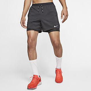 Black//Grey NIKE Boys 2-in-1 Shorts